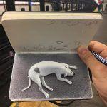 New Sketchbook-Based Ballpoint Pen Drawings by Nicolas V. Sanchez