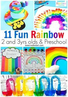 Wonderful Rainbow Crafts for Preschool and Toddlers. Easy Rainbow Crafts for kids. Great Spring crafts and St Patrick's Day crafts for preschool. Easy Rainbow Crafts for 2 and olds. Colourful, cheerful and bright rainbow diy ideas! Rainbow Crafts Preschool, Rainbow Activities, Preschool Crafts, Preschool Activities, Toddler Preschool, Rainbow Learning, Crafts For 2 Year Olds, St Patrick's Day Crafts, Spring Crafts For Kids