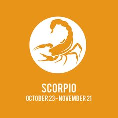Scorpio ZODIAC Print // Choose Your Color by JSGD on Etsy, $18.00