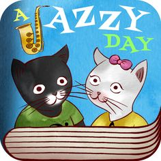 #AppyReview by Sharon Turriff @appymall A Jazzy Day - Music Education Book for Kids. A fun and unique way for children to learn about instruments and what instruments and styles make up Jazz music. I love how it has been made into a story and that your children can interact with the instruments on each page to learn about the sounds of those instruments. There is also another from the main page where they learn the first letter of each
