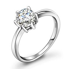 938937041c Personalized Cheap Diamond Engagement Ring for Women Platinum - Promise  Rings for Her - Personalized Jewelry