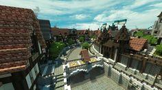 Great Medieval Town of Ferrodwynn [With video] Minecraft Project Minecraft city Minecraft projects Minecraft mansion
