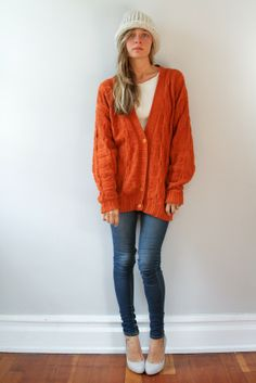 love this orange, comfy sweater!!!