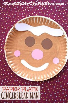 Christmas Paper Plate Gingerbread Man {Kid Craft} - Glued To My Crafts Christmas Paper Plate Gingerb Daycare Crafts, Xmas Crafts, Toddler Crafts, Preschool Crafts, Kid Crafts, Gingerbread Man Crafts, Gingerbread Man Activities, Christmas Gingerbread, Christmas Treats