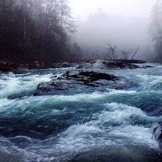 The raging torrent! Bull Sluice on the Chattooga with high water!