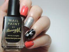 Diamonds are forever : Un corail'niversaire Diamant sur l'ongle!! - nails - nailart - glitter - diamonds - Pueen09 - Kiko 444 - Flormar 392 - Rimmel Black Out