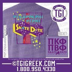 TGI Greek - Pi Beta Phi - Pi Kappa Phi - Date Party - Skate Party - Comfort Colors - Greek T-shirts  #tgigreek #pikappaphi #pibetaphi #dateparty
