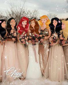Disney princesses in wedding dresses iguunii Beautiful creativity of the Azerbaijan artist and illustrator iguunii All Disney Princesses, Disney Princess Drawings, Disney Princess Art, Disney Princess Pictures, Disney Fan Art, Disney Pictures, Disney Girls, Disney Drawings, Punk Disney