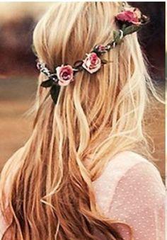Criação Fashion: Ola meninas, olha que encanto essa coroa de flor, ...