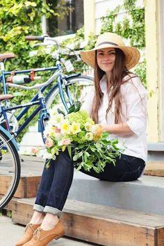 Cycling to the Flower Market