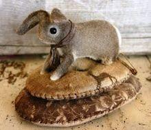 Running Rabbit Pin-Keep/ Susan Pilotto Needle Book, Needle Felting, Wool Felting, Stitch Book, Sewing Baskets, Sewing Crafts, Sewing Kits, Sewing Tools, Sewing Patterns