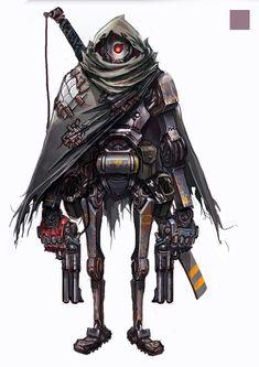 JunkBot by Marcus Luk on ArtStation. Arte Ninja, Arte Robot, Robot Art, Robots Characters, Star Wars Characters, Fantasy Characters, Star Wars Droids, Star Wars Rpg, Character Concept