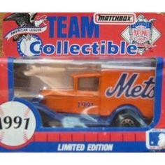 New York Mets 1991 Matchbox Diecast Ford Model A Truck MLB 1:66 Scale White Rose Collectible Car by MLB  $16.49