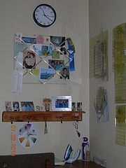 corner view of my sewing area/rulers