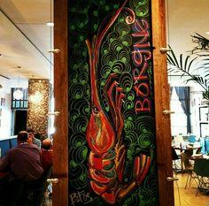 Borgne - John Besh Restaurant   Chalk art by Becky Fos