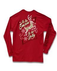 Southern Vine Tis the Season to be Jolly Happy Holidays Christmas Girlie Long Sleeve Bright T-Shirt ALL SIZES Womens SMALL MEDIUM LARGE XLARGE 2XLARGE 3XLARGE Design is on the back...