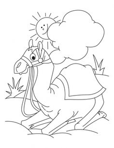 camel coloring pages 2 Show Ideas Pinterest Camels Colour