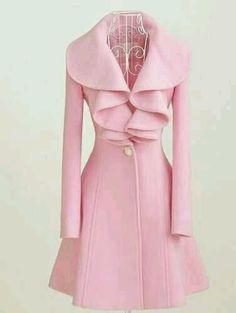 Pink coat.
