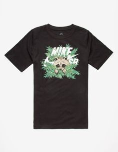 NIKE SB Raccoon Fern Icon Boys T-Shirt Black Boys T Shirts 59ffbc1b4b7c4