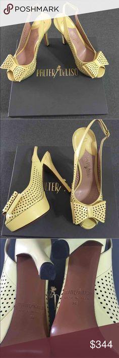 "Palter DeLiso Sling back Platforms NWB Gorgeous, Sophisticated Leather Sling Back Adj Buckle, Peep Toe-Double Boe Detail, 5 1/2"" heel, 1 1/2"" Platform Heels. Made in Italy. Palter DeLiso Shoes Platforms"