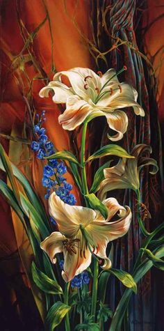Vie Dunn Harr Flower Art found her artistic expression slowly, yet deliberately, and continues to explore the many Art Floral, Floral Artwork, Beautiful Paintings, Art Paintings, Love Art, Art Pictures, Painting & Drawing, Amazing Art, Watercolor Art