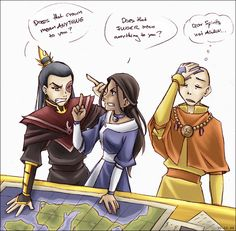 Avatar - Argument by sora-ko.deviantart.com on @DeviantArt | The more things change... #Zuko #Katara #Aang
