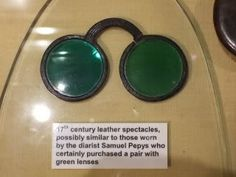 17th century leather spectacles