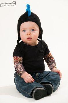 Kid's Tattoo Sleeve Black T-shirt