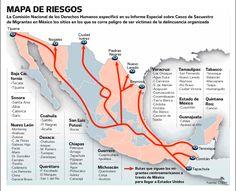 México y Centroamérica, rutas de migración hacia EE.UU.
