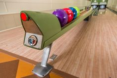 Vintage 1950s Equipment Restored for Retro Home Bowling Alley - modern - family room - minneapolis - Fusion Bowling