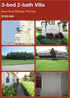 3-bed 2-bath Villa in New Port Richey, Florida ►$182,900 #PropertyForSale #RealEstate #Florida http://florida-magic.com/properties/5960-villa-for-sale-in-new-port-richey-florida-with-3-bedroom-2-bathroom