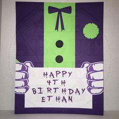 Custom Joker Birthday Sign by Allaboutthebagnola on Etsy