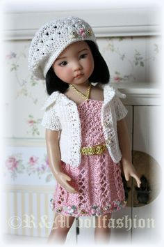 """OOAK Hand-knitted outfit """"GRACEFUL GIRL"""" for Effner Little Darling 13"""" dolls   By rmdollfashion 