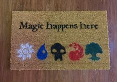 Magic Happens Here Magic The Gathering Inspired by RyNicProducts