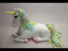 Orchideli - fondant unicorn tutorial. How to make fondant unicorn on unicorn cake.
