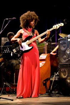 Esperanza Spalding. Just showing the boys how it's done.