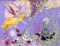 fantasy, pressed flower art