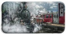 Train IPhone 6s Case featuring the photograph Steam Train by Hanny Heim, Snowbird Photography #steamtrain #steam #railway #switzerland #furka #schweiz