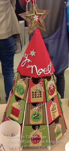 Tree Advent Calendar - seen at 2014 Stampin Up convention - artist not credtied.  Photo by The Crafty oINK Pen