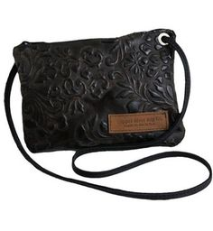 Italian Leather Clutch Purse - Brown Paisley - Made in the U.S.A.