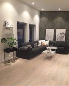 décoration salon moderne en noir pour un intérieur glamour ... - Decoration Maison Salon Moderne