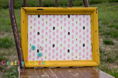 Magnetic Board by craftychickshop on Etsy, $37.00