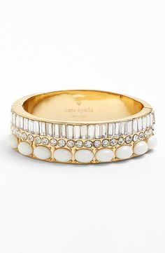 Absolutely gorgeous! In love with this crystal and white stone hinge bangle.