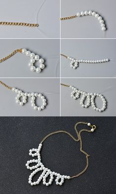 Like the pearl chain necklace?The tutorial will be shared by LC.Pandahall.com soon.