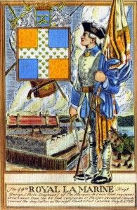 French Regiment La Marine: the few regular French troops at Fort DuQuesne were from this regiment: ironically the regimental number was 44th.