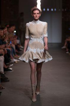 Mischief Rosette Laced Dress, Filigree Cuff Stiletto