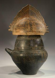 Funeral urn from Villanova culture with Helmet Lid.