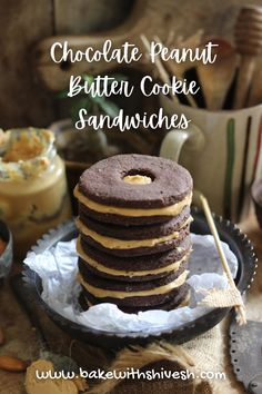 These chocolate peanut butter cookie sandwiches are divine, to say the least. What I love the most about them is the fact that I made them using organic wheat flour. It is so easy to make these chocolate peanut butter cookie sandwiches – a few simple ingredients and a few minutes preparation are all you need for a tray full of delicious goodies. Chocolate Peanut Butter Cookies, Chocolate Recipes, Cookie Sandwiches, Organic Sugar, Decadent Chocolate, Vegetarian Chocolate, Food Styling, Food Food, Goodies
