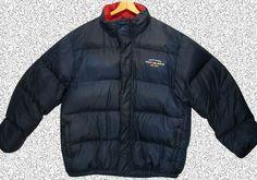 Polo Jeans Ralph Lauren Puffer Jacket Coat SPELL OUT FLAG Navy Down XXL #PoloRalphLauren #Puffer