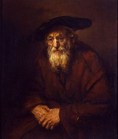 """""""Portrait of an Old Man in an Armchair"""" by Rembrandt Harmenszoon van Rijn (1654) @ Hermitage Museum, St Petersburg, Russia"""